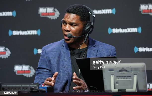 Herschel Walker attends SiriusXM at Super Bowl LIII Radio Row on January 31, 2019 in Atlanta, Georgia.