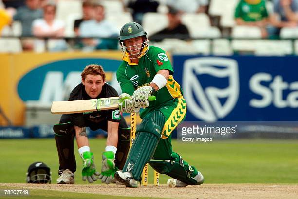 Herschelle Gibbs during the third ODI match between South Africa and New Zealand held at Sahara Park Newlands on December 2 2007 in Cape Town South...
