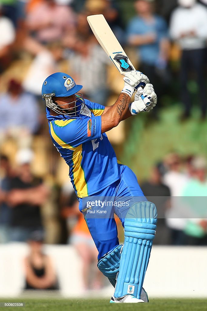 Herschelle Gibbs of the Legends bats during the WA Festival of Cricket Legends Match between the Australian Legends XI and Perth Scorchers at Aquinas College on December 11, 2015 in Perth, Australia.