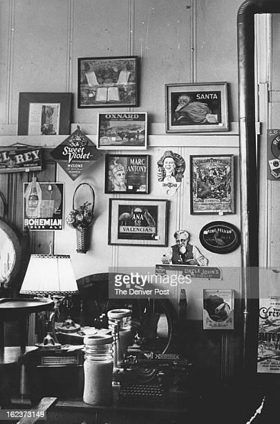 MAR 1976 MAR 25 1976 Herschman John Wall Of His Boulder Antique Shop