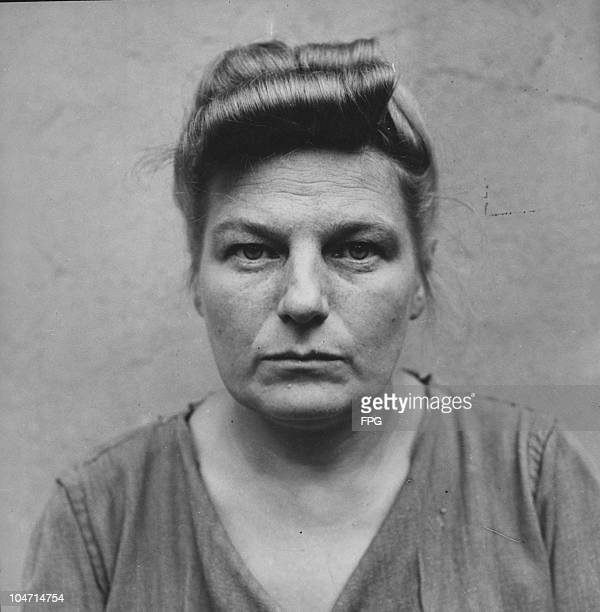 Herta Ehlert , a guard at the Bergen-Belsen concentration camp, Germany, circa 1945. Charged with war crimes and crimes against humanity, Ehlert is...