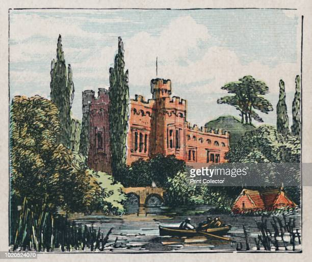 Hertford', circa 1910. 'The Castle. Founded, A.D. 909. Malting. Brewing. Population 380'. Card from The Counties of England - A Geographical Game....