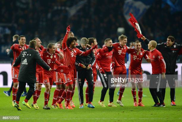 FUSSBALL 1 BUNDESLIGA SAISON Hertha BSC Berlin FC Bayern Muenchen Bayern Muenchen Thiago Alcantara Xherdan Shaqiri Franck Ribery Philipp Lahm Dante...