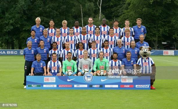 Hertha BSC squad photo Robert Abramczyk Pal Dardai Christian Fiedler Jaroslav Drobny Christopher Gaeng Sofian Chahed Hendrik Herzog Herthinho Lucien...