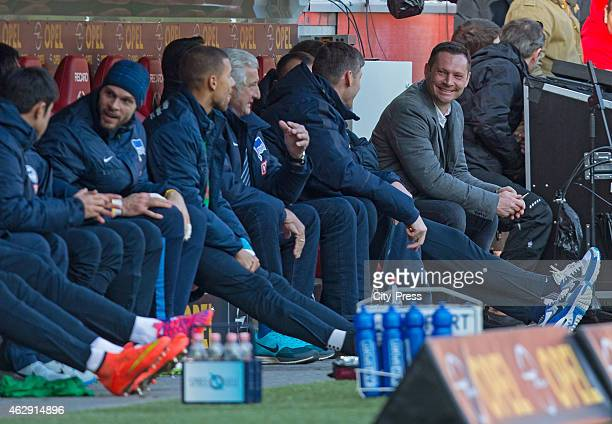 Hertha substitutes' bench during the game between FSV Mainz and Hertha BSC on february 7 2015 in Mainz Germany