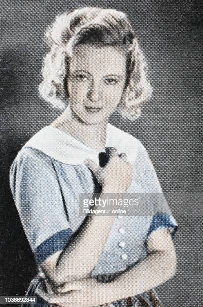 Hertha Thiele was a German actress digital improved reproduction of an historical image