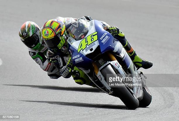 Hertz British MotoGP Motorbikes Race Day at Silverstone UK Valentino Rossi ITA Yamaha Factory Racing during the race