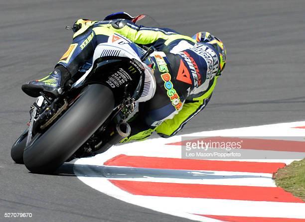Hertz British MotoGP Motorbikes Silverstone UK Free Practice Valentino Rossi ITA Yamaha Factory Racing