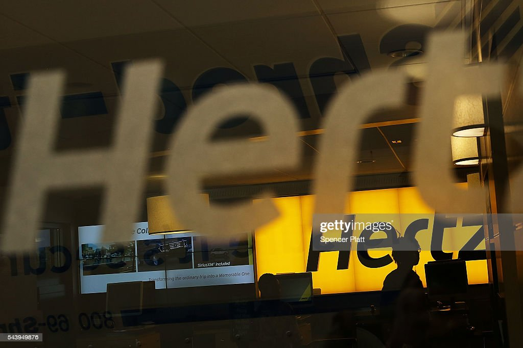 Car Rental Manhattan >> A Hertz Car Rental Agency Stands In Manhattan On June 30