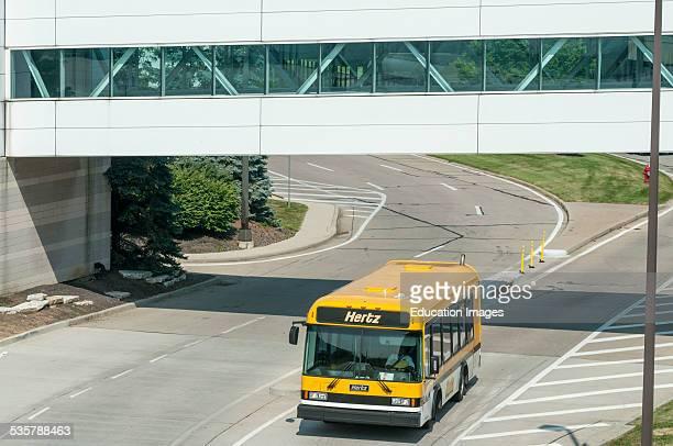 Hertz car rental courtesy bus at the Cincinnati Northern Kentucky International Airport