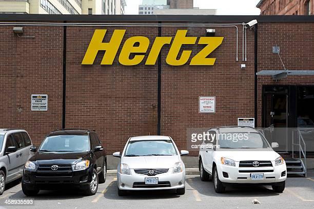 hertz car rental downtown montreal, canada - hertz car stock photos and pictures