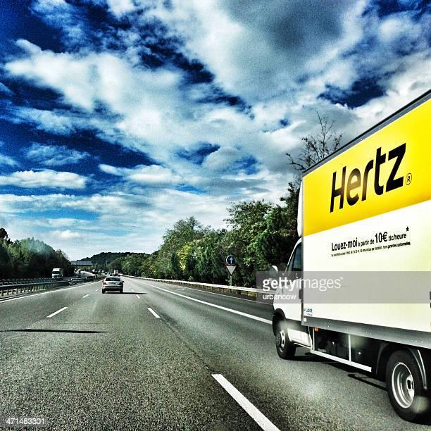 hertz truck - hertz car stock photos and pictures