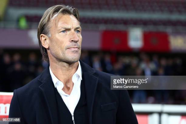 Hervé Renard head coach of Morocco during the international friendly match between Serbia and Morocco Morocco wins 21 over Serbia