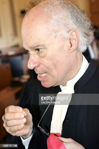 Hervé RouzaudLe Boeuf laywer for the Dickinson family is pictured 24 June 2005 at the Court house in SaintBrieuc at the fourth day of the retrial of...