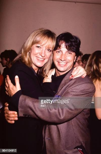 Hervé Vilard et Alice Dona lors d'une soirée en octobre 1991 à Paris France