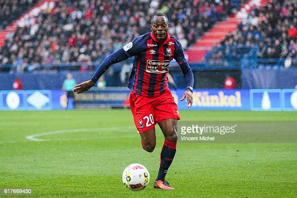 Herve Bazile of Caen during the Ligue 1 match between SM Caen and AS SaintEtienne at Stade Michel D'Ornano on October 23 2016 in Caen France