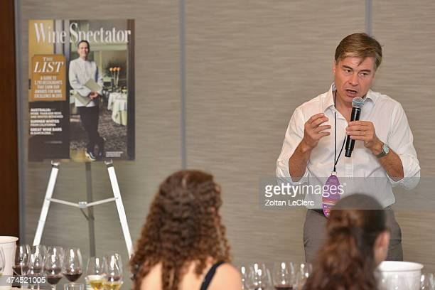 Herve Birnie Scott of Moet Hennessy Group speaks at Wine Spectator Wine Seminar From Spring Mountain To The Andes A Discovery Of Newton Vineyards...