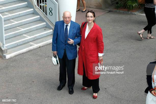 Herve Bourges and President of France Television Delphine Ernotte attend the 2017 French Tennis Open Day Height at Roland Garros on June 4 2017 in...