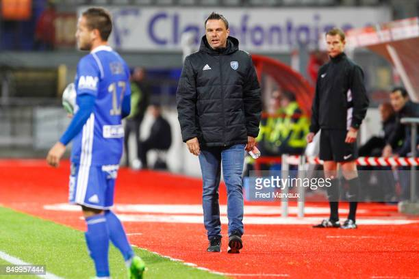 Herve Della Maggiore coach of Bourg en Bresse during the French Ligue 2 mach between Nancy and Bourg en Bresse at on September 19 2017 in Nancy France