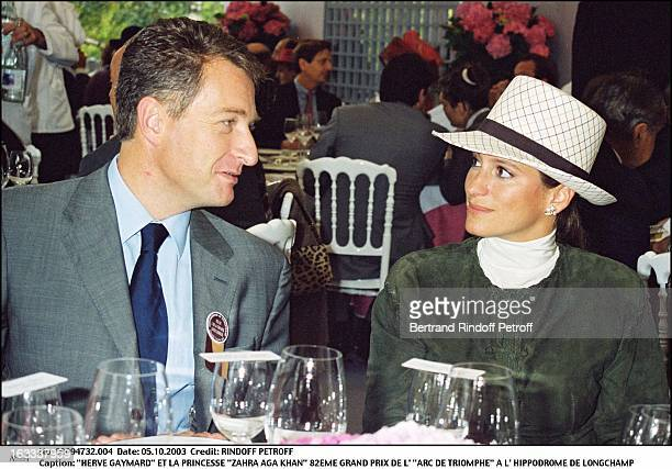 Herve Gaymard and Princess Zahra Aga Khan 82nd Grand Prix of the Arc De Triomphe at the racecourse of Longchamp