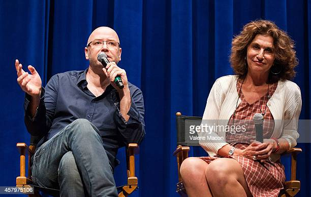 Herve Hadmar and Fabienne ServanSchreiber attend The Cultural Services Of The Embassy Of France Presents Direct To Series Season 2 Screenings Of...
