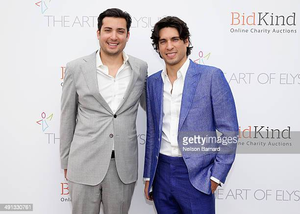 Herve Larren and Benjamin Larretche attend the Art of Elysium's 6th Annual PARADIS presented by BidKind during the 67th Annual Cannes Film Festival...