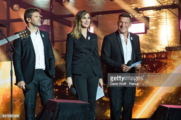 Herve Mathoux Marie Portolano and Benjamin Castladi hosted Paris Olympic Games celebration at Mairie de Paris on September 15 2017 in Paris France