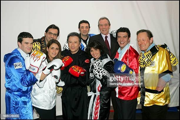"Herve Mathoux, Valerie Benaim, Emmanuel Chain, Stephanie Fugain, Remi Cohen, Jean-Claude Bouttier, Thierry Gilardi and Roger Zabel at ""The Gala Ring..."
