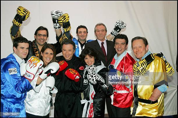 Herve Mathoux Valerie Benaim Emmanuel Chain Stephanie Fugain Remi Cohen JeanClaude Bouttier Thierry Gilardi and Roger Zabel at 'The Gala Ring 2005'...