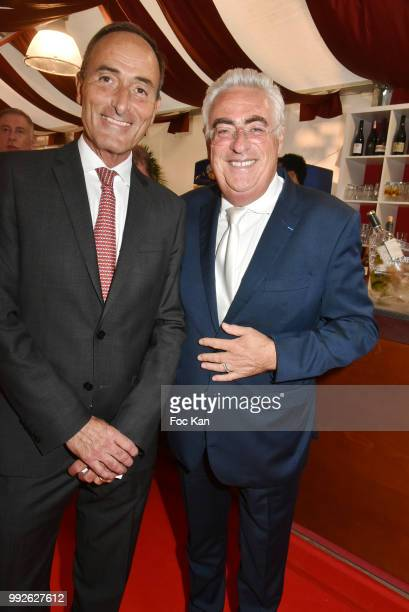 Herve Michel Danzac and Jean Mchel Aubrun Attend 'La Femme Dans Le Siecle' Dinner on July 5 2018 in Paris France