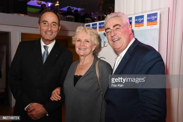Herve Michel Danzac Marie Christine Barrault and Jean Michel Aubrun attend the 'Gala de L'Espoir' Auction Dinner Against Cancer at the Theatre des...