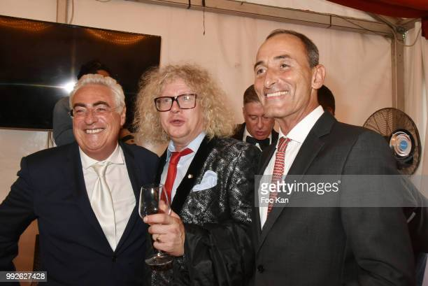 Herve Michel Danzac PierreJean Chalencon and Jean Mchel Aubrun Attend 'La Femme Dans Le Siecle' Dinner on July 5 2018 in Paris France
