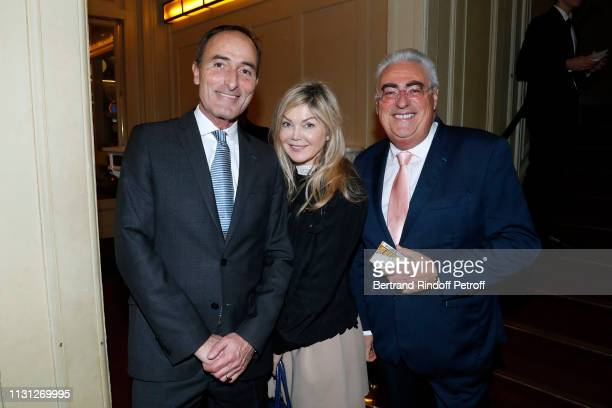 Herve MichelDansac Sonia Poniatowski and JeanMichel Aubrun attend the Fondation Prince Albert II De Monaco Evening at Salle Gaveau on February 21...