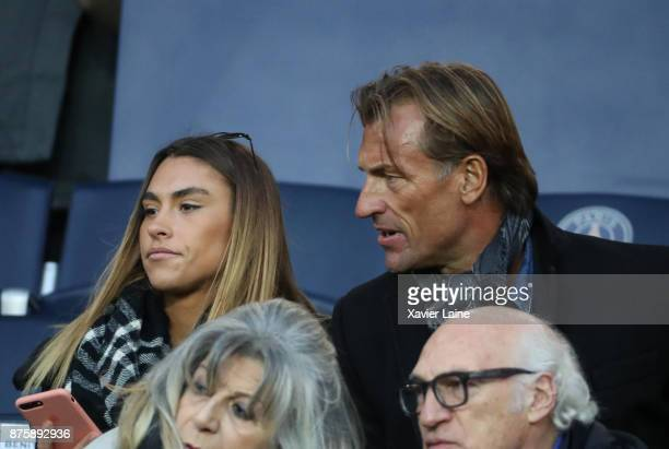 Herve Renard and his daughter Candide Renard attend the Ligue 1 match between Paris SaintGermain and FC Nantes at Parc des Princes on November 18...
