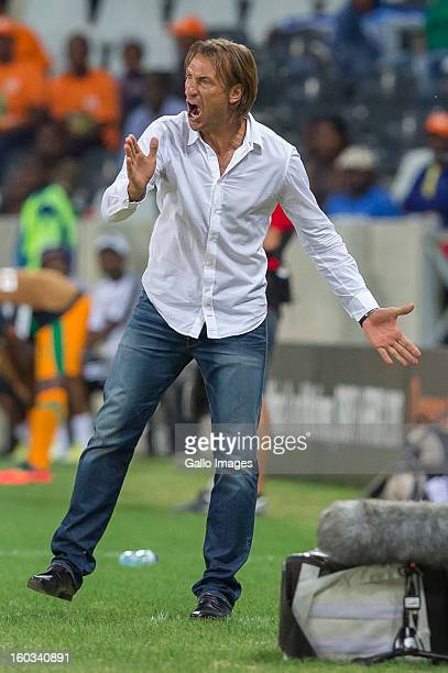 AFRICA JANUARY 29 Herve Renard during the 2013 Orange African Cup of Nations match between Burkina Faso and Zambia from Mbombela Stadium on January...