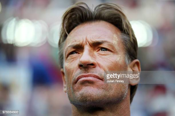 Herve Renard Head coach of Morocco looks on prior tothe 2018 FIFA World Cup Russia group B match between Morocco and Iran at Saint Petersburg Stadium...