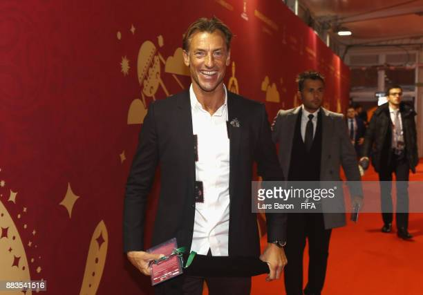 Herve Renard Manager of Morocco arrives prior to the Final Draw for the 2018 FIFA World Cup Russia at the State Kremlin Palace on December 1 2017 in...