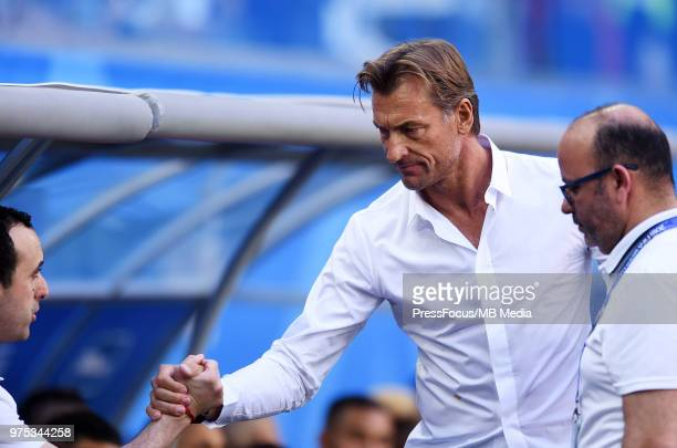 Herve Renard Manager of Morocco during the 2018 FIFA World Cup Russia group B match between Morocco and Iran at Saint Petersburg Stadium on June 15...