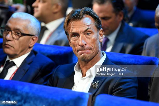 Herve Renard Manager of Morocco looks on during the Final Draw for the 2018 FIFA World Cup Russia at the State Kremlin Palace on December 1 2017 in...