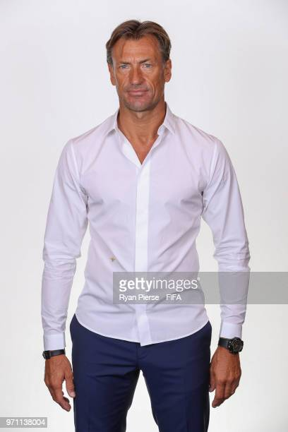 Herve Renard manager of Morocco poses during the official FIFA World Cup 2018 portrait session on June 10 2018 in Voronezh Russia