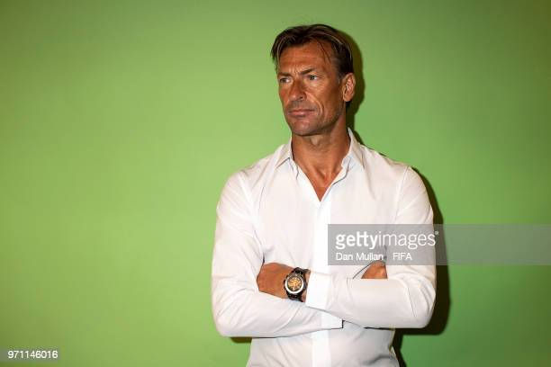 Herve Renard Manager of Morocco poses for a portrait during the official FIFA World Cup 2018 portrait session at on June 10 2018 in Voronezh Russia