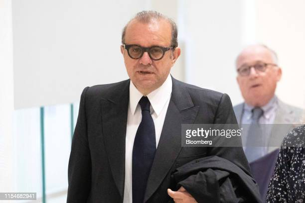 Herve Temime lawyer for French businessman Bernard Tapie arrives at the Porte de Clichy courthouse in Paris France on Tuesday July 9 2019 Orange SA...