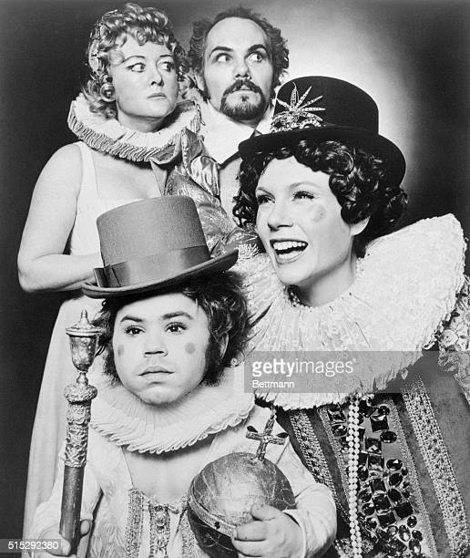 Herve Villechaize and Penelope Windust , Jeanette Landis and Jeff Chandler appear in Elizabeth I, a new play by Paul Foster premiering at the Lyceum...