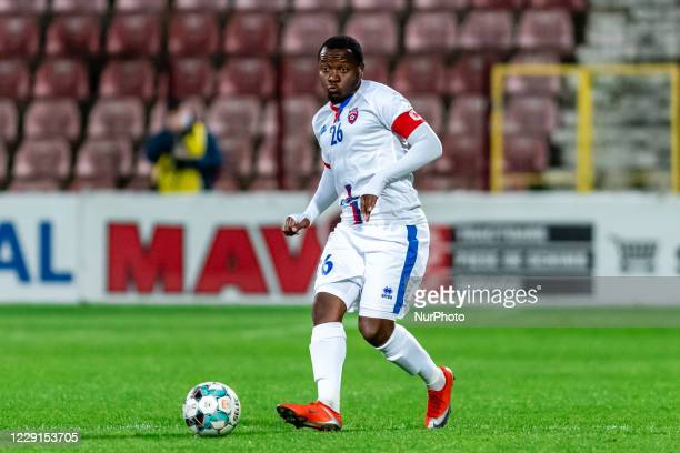 Hervin Ongenda in action during the 7th game in the Romania League 1 between CFR Cluj and FC Botosani, at Dr.-Constantin-Radulescu-Stadium,...
