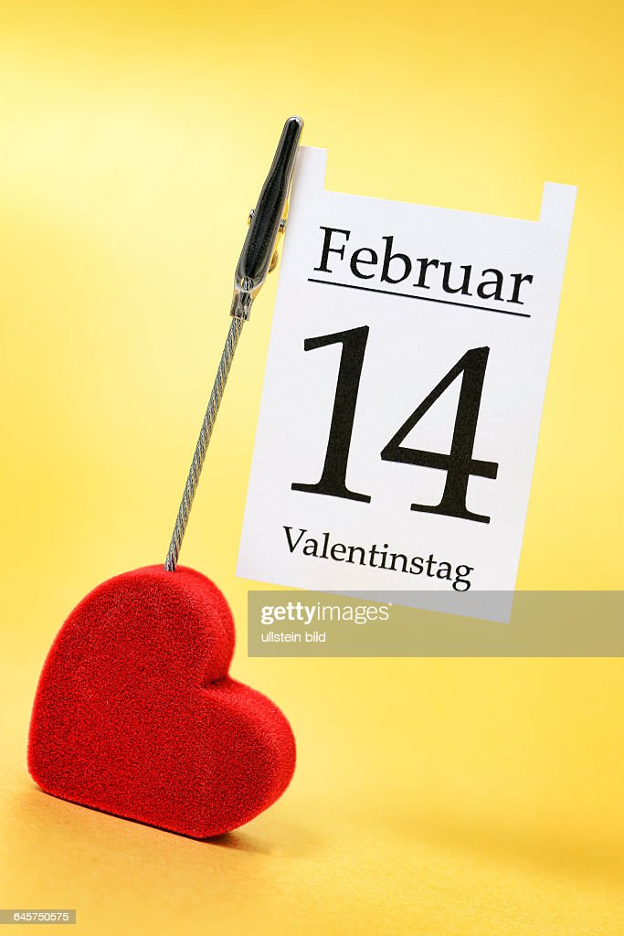 Herz Und Kalenderblatt 14 Februar Valentinstag