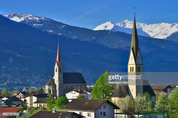 Herz-Jesu-Pfarrkirche Church and Laurentiuskirche Church, Stans, Tyrol, Austria