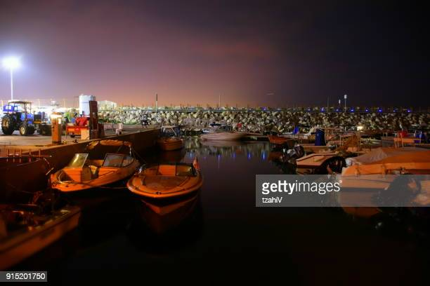 Herzliya Marina At night, Israel.