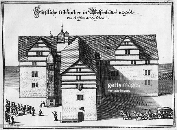 Herzog August Library in Wolfenbüttel Between 1655 and 1660 Private Collection Artist Merian Matthäus the Elder