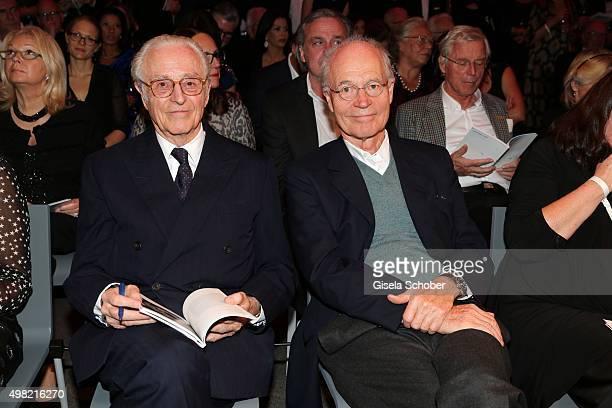 Herzog Franz von Bayern and Udo Brandhorst during the PIN Party 4 Art at Pinakothek der Moderne on November 21 2015 in Munich Germany