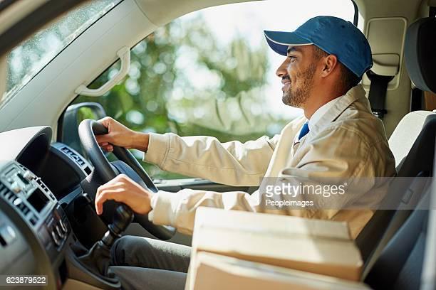 He's a cardboard box chauffeur